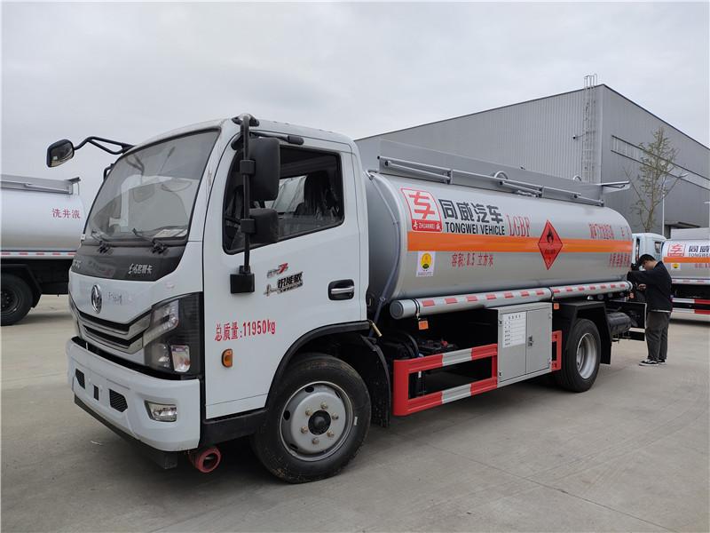 国六8吨油罐车现车 东风多利卡D7新款8.5立方加油车价格视频
