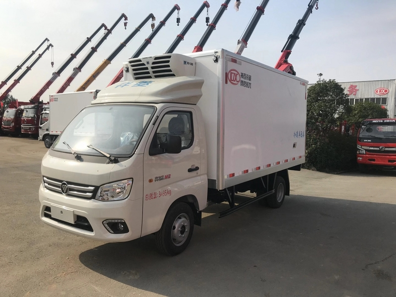 一款高品质的国六福田祥菱M2冷藏车,箱长3.7米,C照驾驶