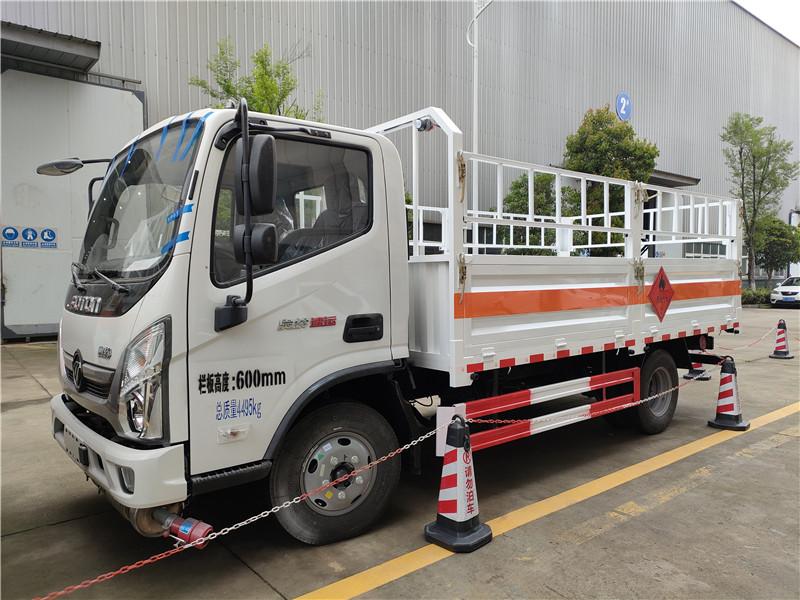 国六福田奥铃4米2危货车 蓝牌气瓶车全柴130马力液化气罐运输车 氧气瓶运输车