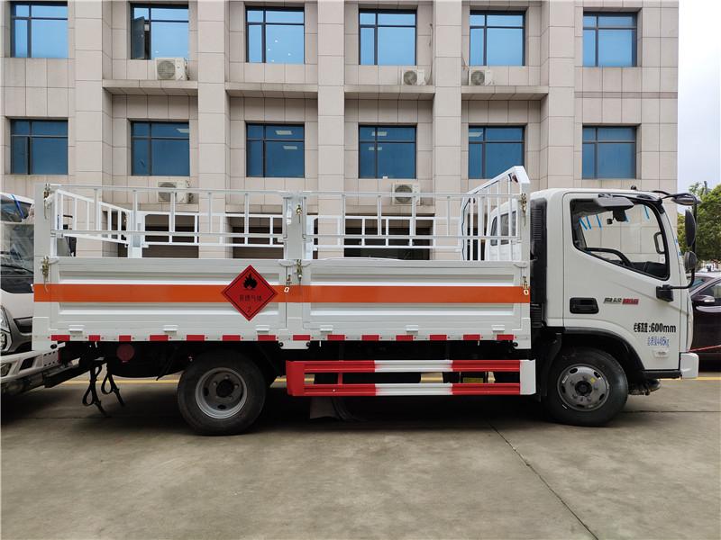 国六福田奥铃速运气瓶运输车价格  蓝牌4.1米栏板液化气罐运输车 氧气瓶运输车