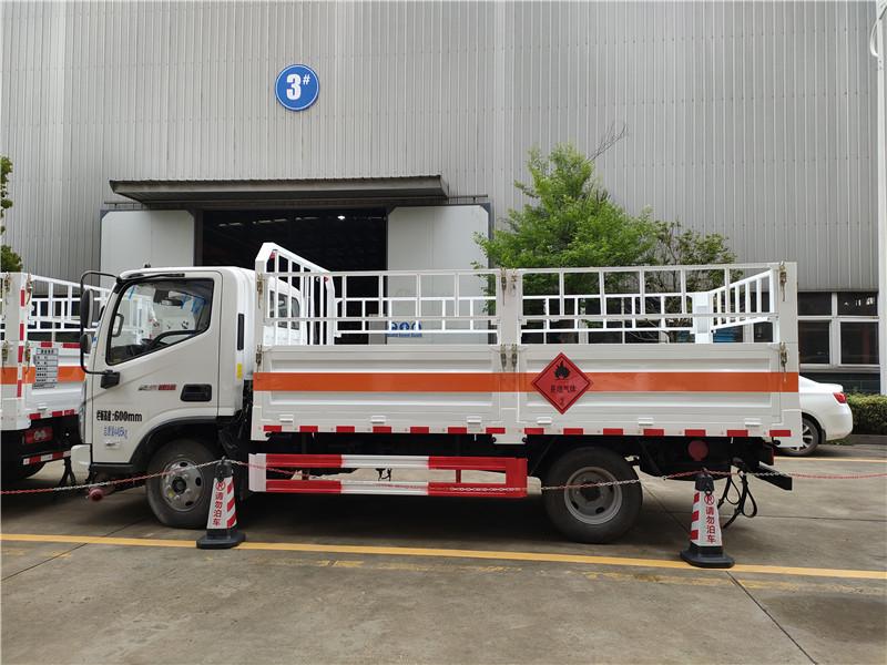江特牌JDF5040TQPB6型气瓶运输车 国六福田奥铃速运气瓶运输车 蓝牌4.1米栏板气瓶车厂家