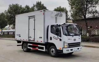 解放虎VN单桥4.2米厢体新款国六法规冷藏车图片