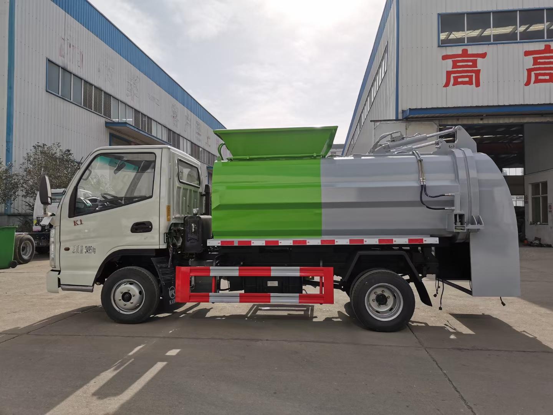 国六蓝牌凯马3方餐厨垃圾车不超重112马力图片