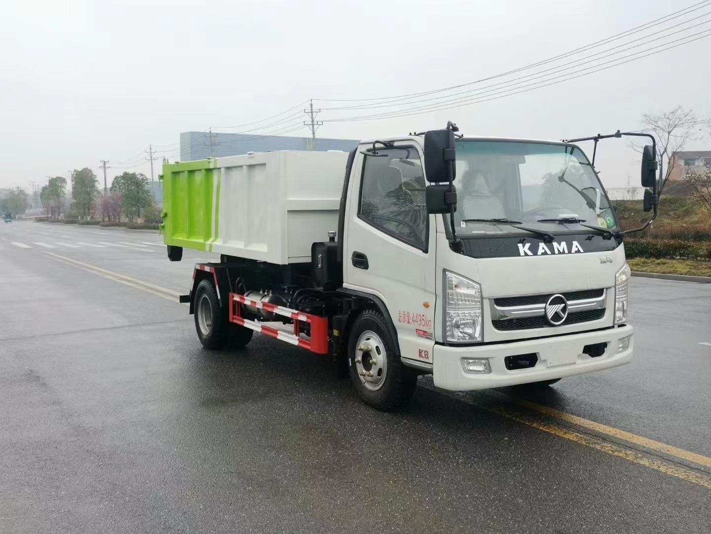凱馬藍牌7噸勾臂垃圾車圖片