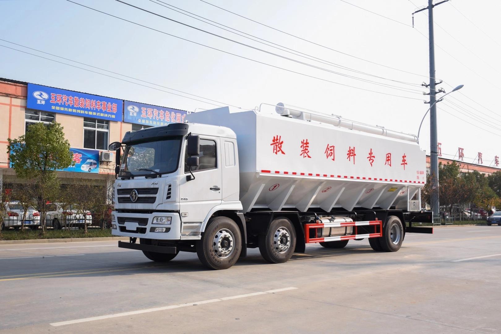 陕气X6小三轴饲料车(液压)图片