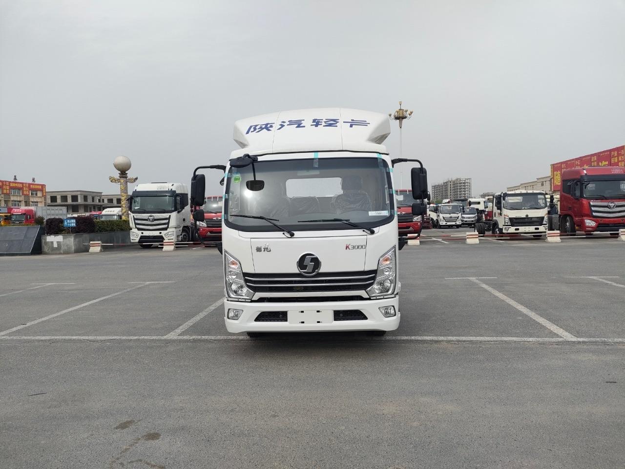 陕汽轻卡排半蓝牌冷藏车厂家图片