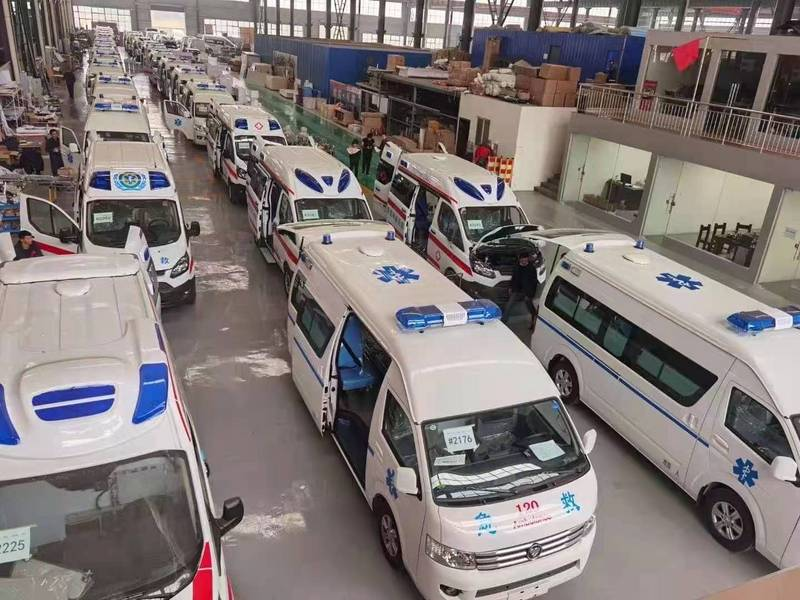 甘肃皋兰县订购8台国六福特V362负压救护车