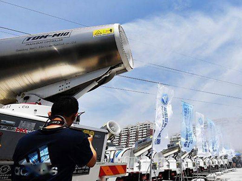 超大號空氣凈化器來襲,上百臺純電動抑塵車北京房山上崗
