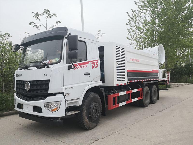 北京街道多功能抑尘车配置,东风专底D3加80米雾炮机