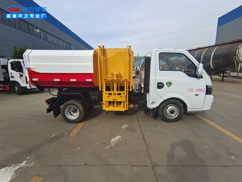 国六东风途逸蓝牌挂桶垃圾车生源头生产厂家直销图片