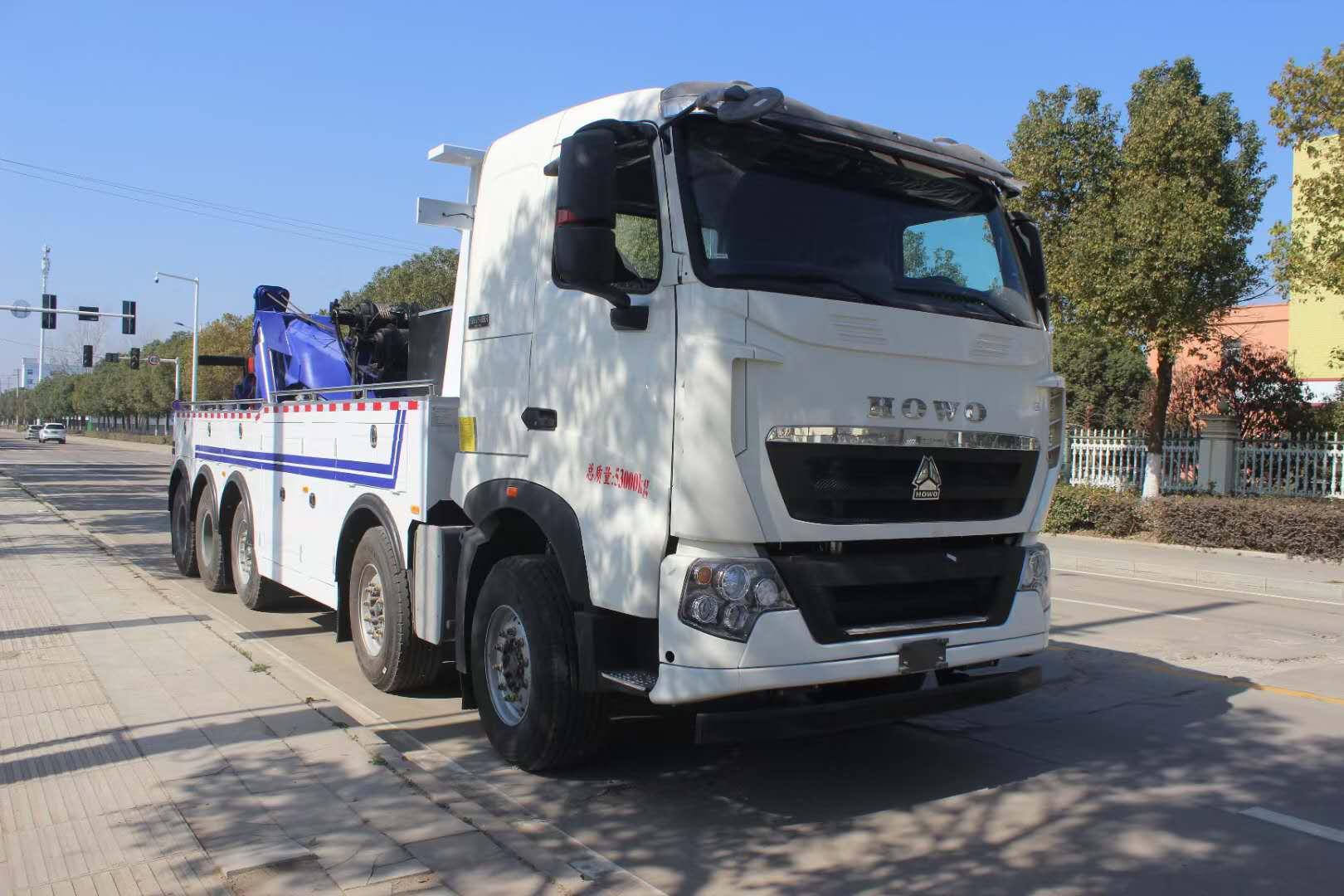 重型清障车生产厂家五轴救援拖车30吨上装图片价格配置