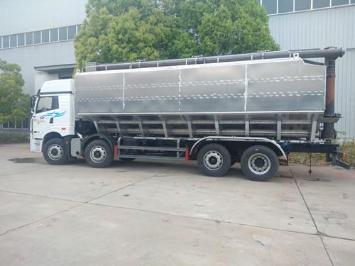 15吨国六东风天锦铝合金散装饲料车龙擎260马力特价送上门可分期