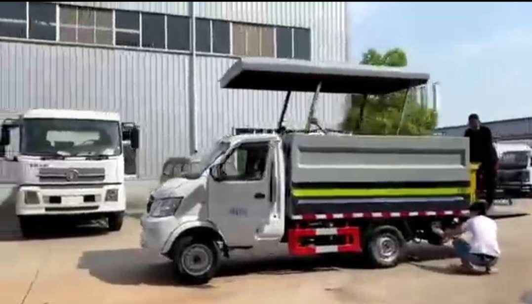 240L垃圾桶运输车价格密封式桶装垃圾车厂家操作视频图片