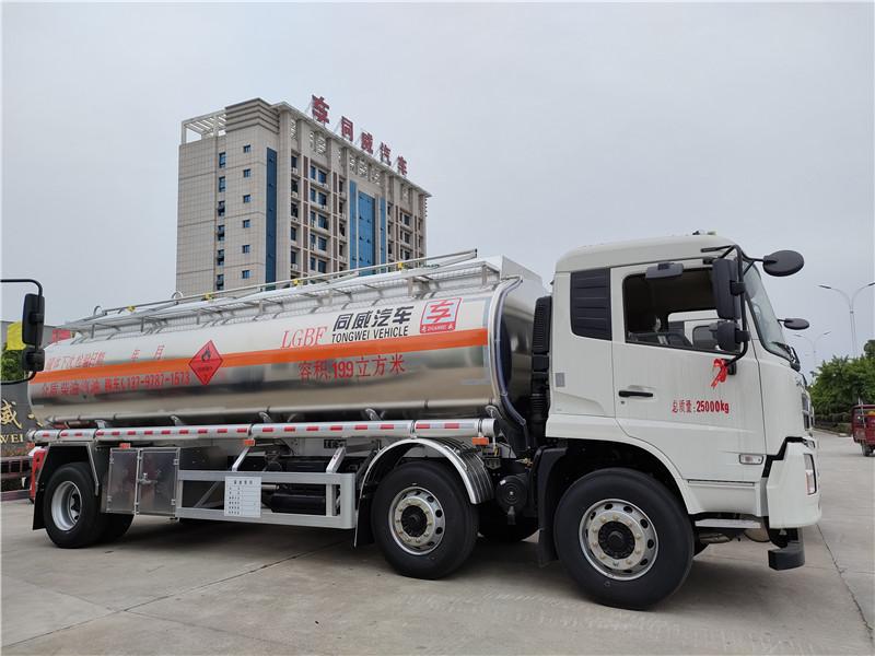 东风天锦小三轴19.9方铝合金运油车厂家直销(三轴18吨油罐车)物美价廉图片