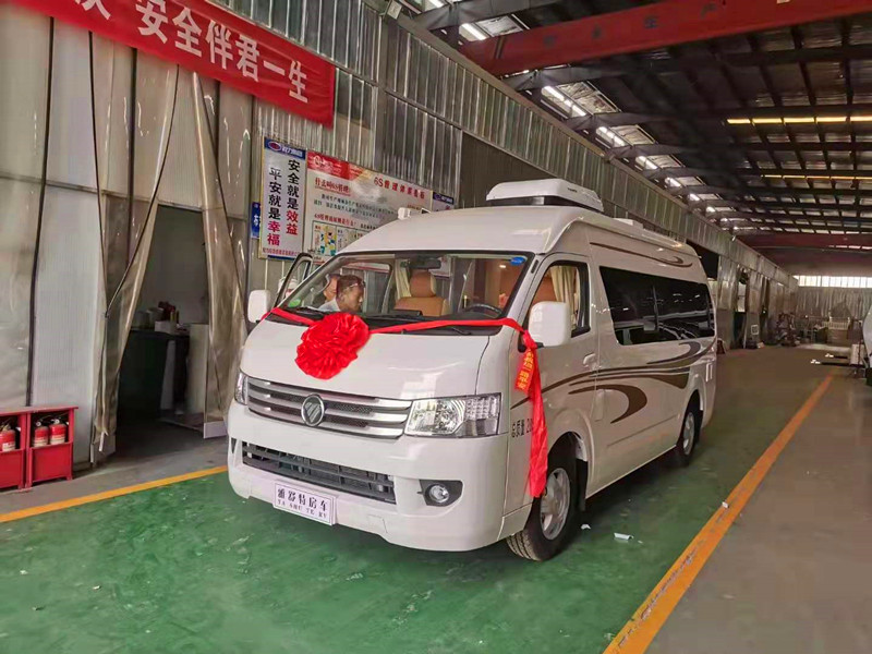 国六福田G9小型蓝牌B型房车=二十万以内的国产房车厂家在哪里