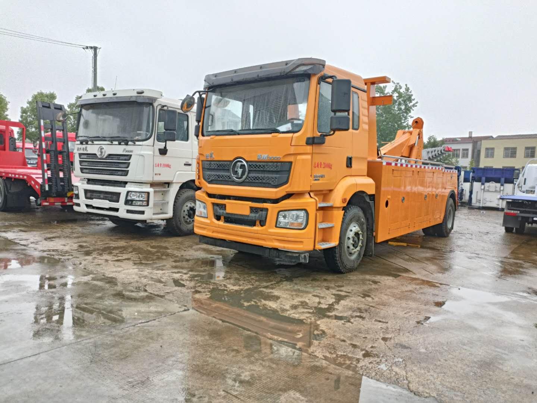 16吨25吨陕汽拖吊联体大型清障车价格375马力救援拖车厂家图片图片