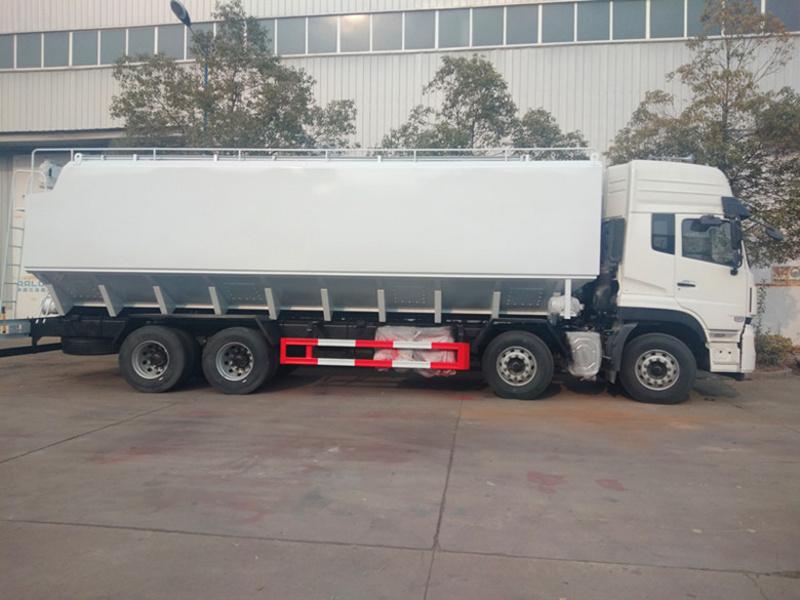 最新推荐国六铝合金散装饲料车 铝合金拉猪 运猪车图片