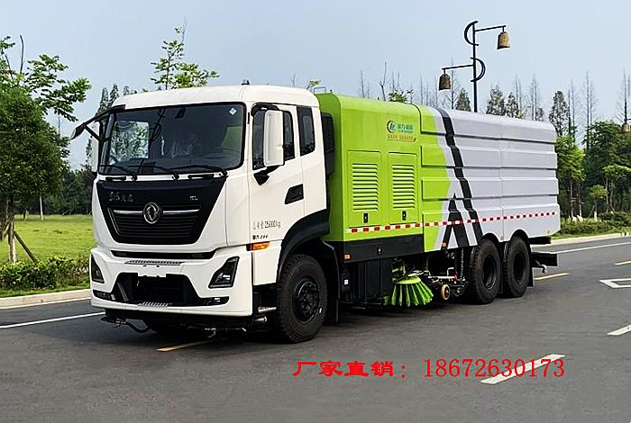 國六東風天龍洗掃車視頻
