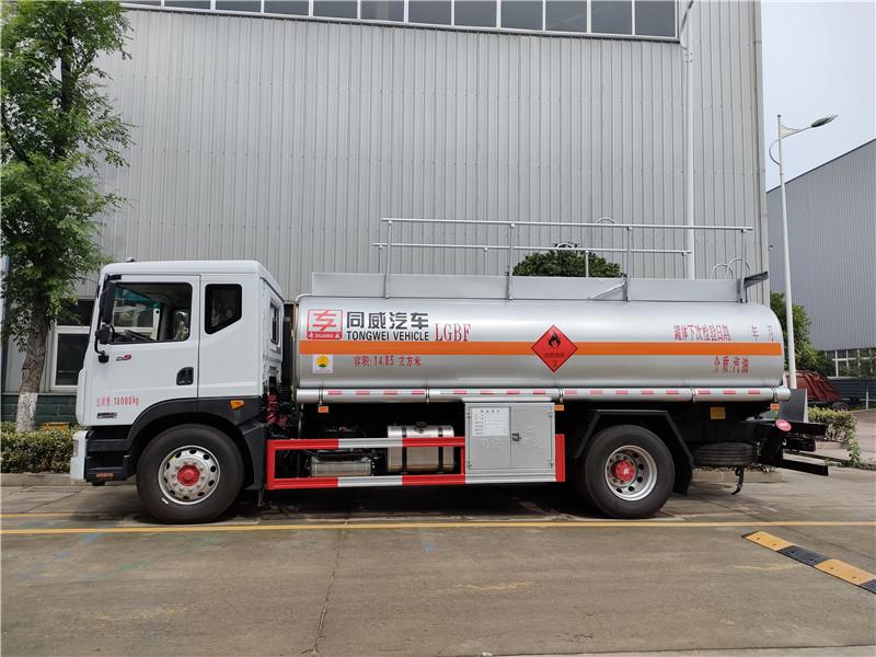 新规国六东风D9油罐车 大多利卡10—14吨运油车参数视频视频
