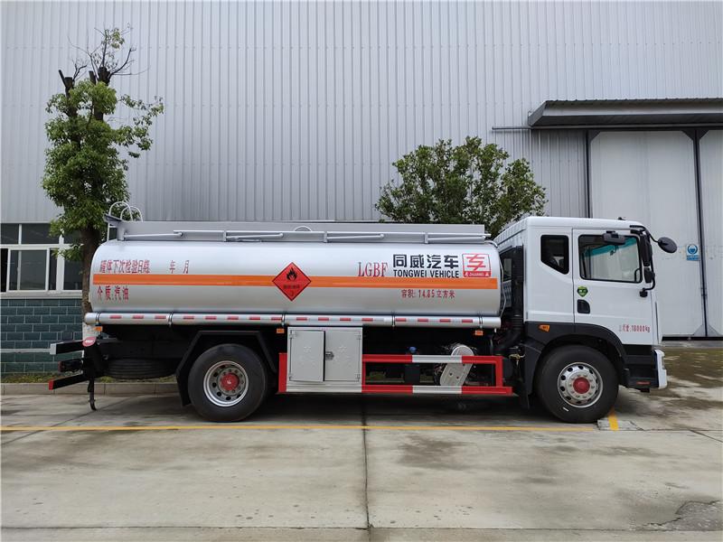国六东风D9汽油14.85方运油车 国六14吨油罐车厂家批发视频