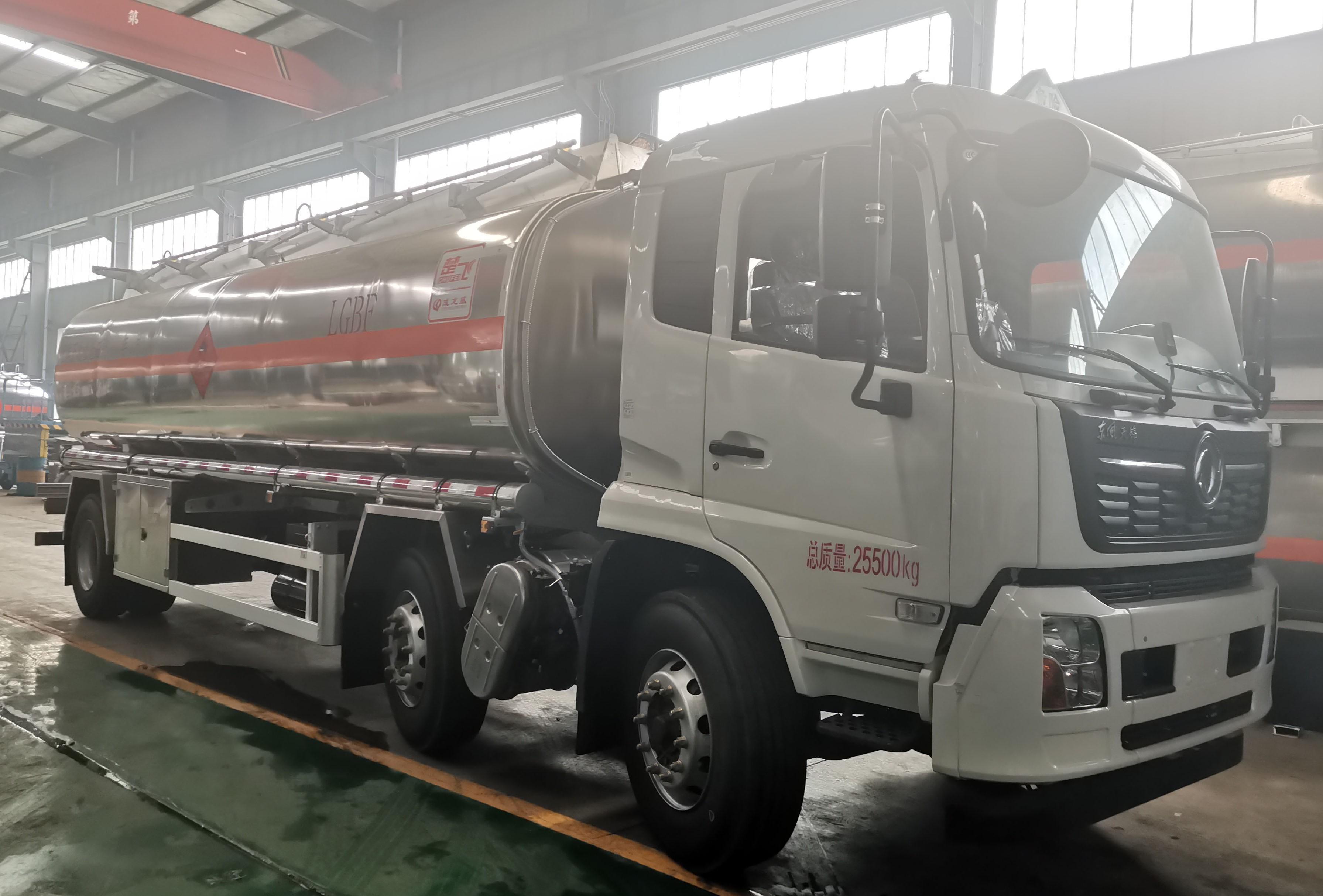国六东风天锦小三轴铝合金运油车公告容积21.方燃油已公示可下单