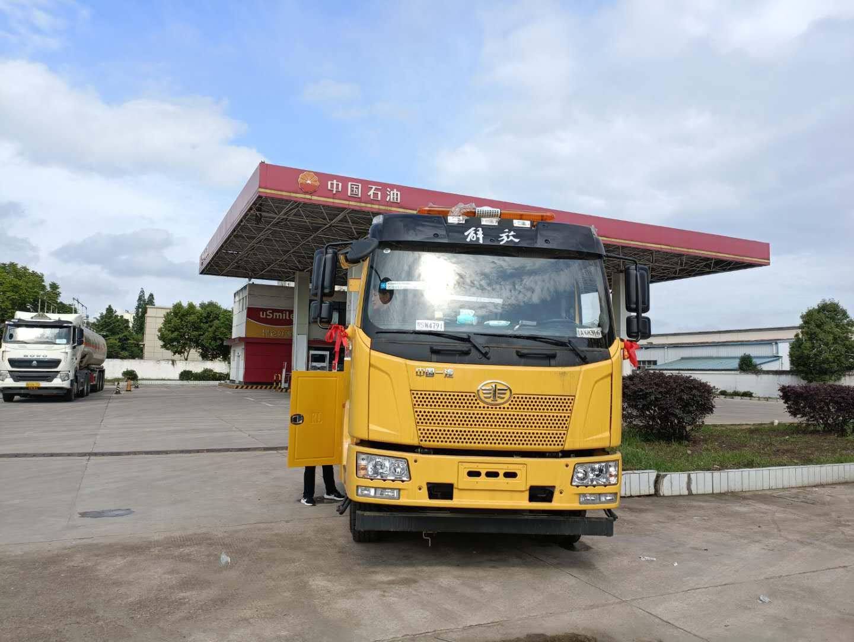 国五13吨解放J6一拖一大型道路救援拖车价格厂家发车图片图片
