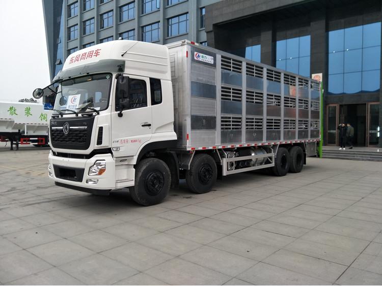 厂家供应大型9.6米东风8*4畜禽运输车图片