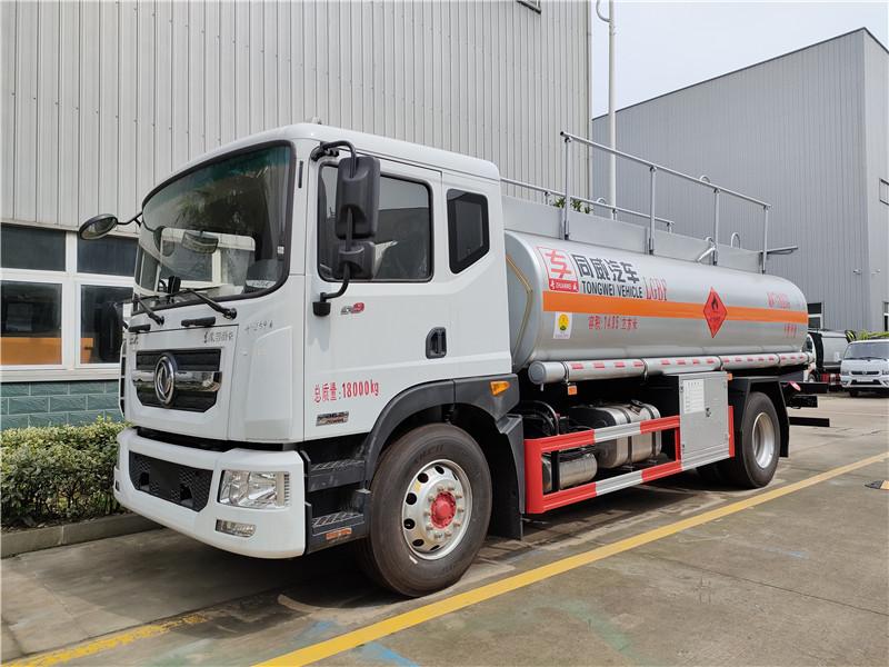 东风D9国六排放危险品液体罐式运输车14.85方运油车 满载14吨流动加油车厂家批发