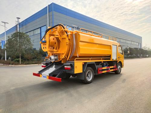 国六8吨东风大多利卡清洗吸污车清水污水两罐免征环保车实用型