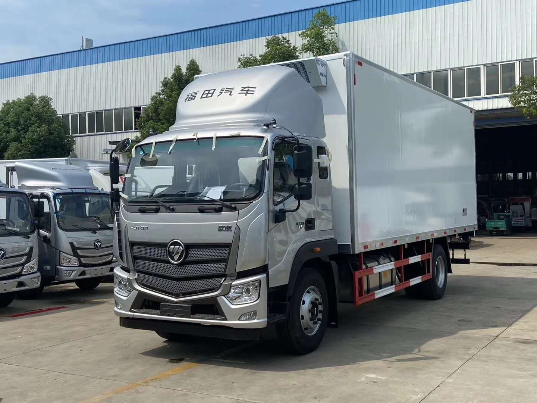 福田6.6米冷藏车价格配置康明斯210马力运输肉类专用冷链车图片