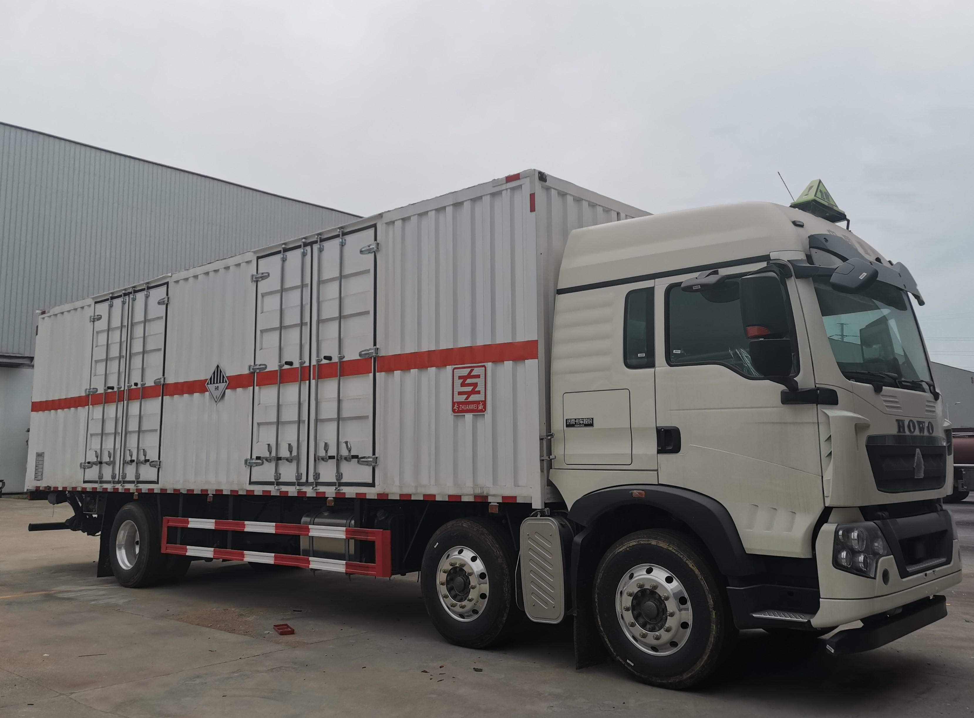 国六货箱9米废机油厢式运输车上户吨位15吨视频