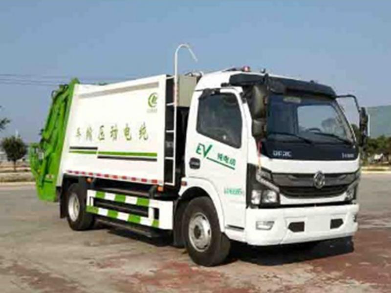 请欣赏新能源纯电动环卫全系(十九),东风纯电动8吨压缩垃圾车