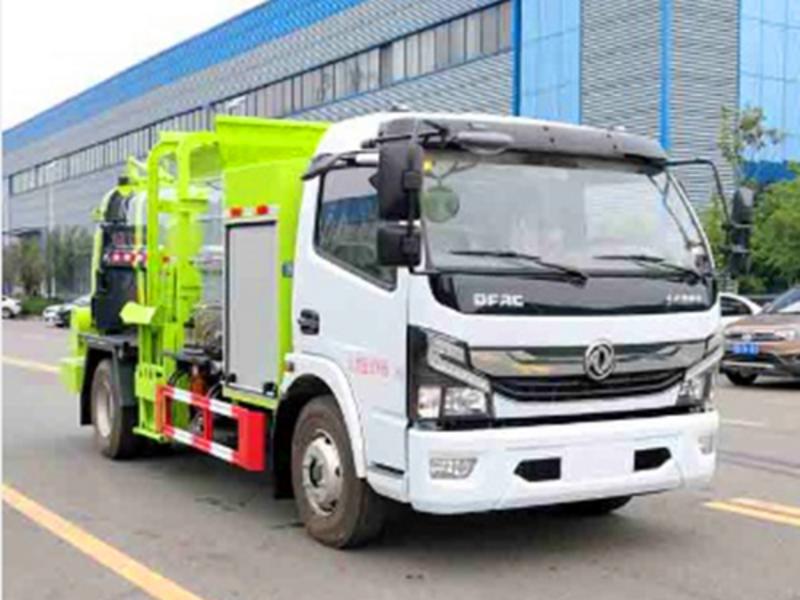 请欣赏新能源纯电动环卫全系(二十一),东风纯电动5吨餐厨垃圾车