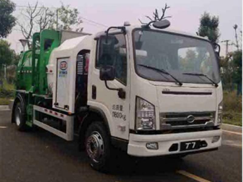 请欣赏新能源纯电动环卫全系(二十二),比亚迪纯电动7吨餐厨垃圾车