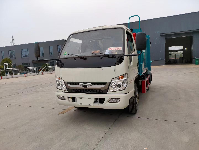 福田時代3方壓縮垃圾車廠家價格配置直銷圖片