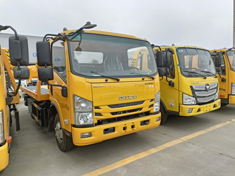 蓝牌道路清障车报价4吨一拖二拖车三款尾板款式细致图片图片