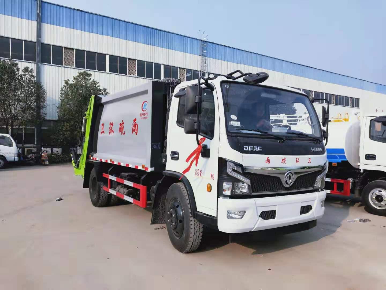 9方东风压缩垃圾车厂家报价 程力东风压缩垃圾车产品配置图片