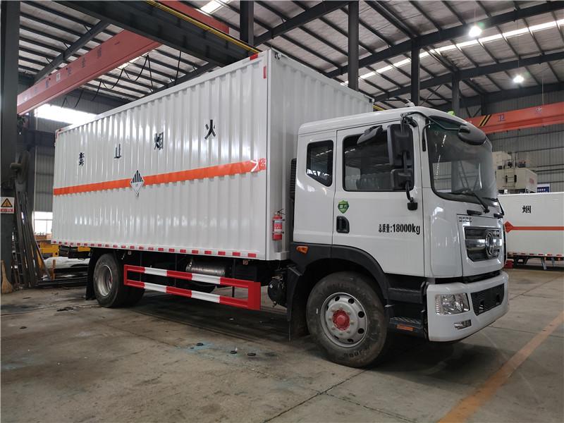 东风D9厢式危险品运输车 6米8杂项危险品运输车 可分期视频