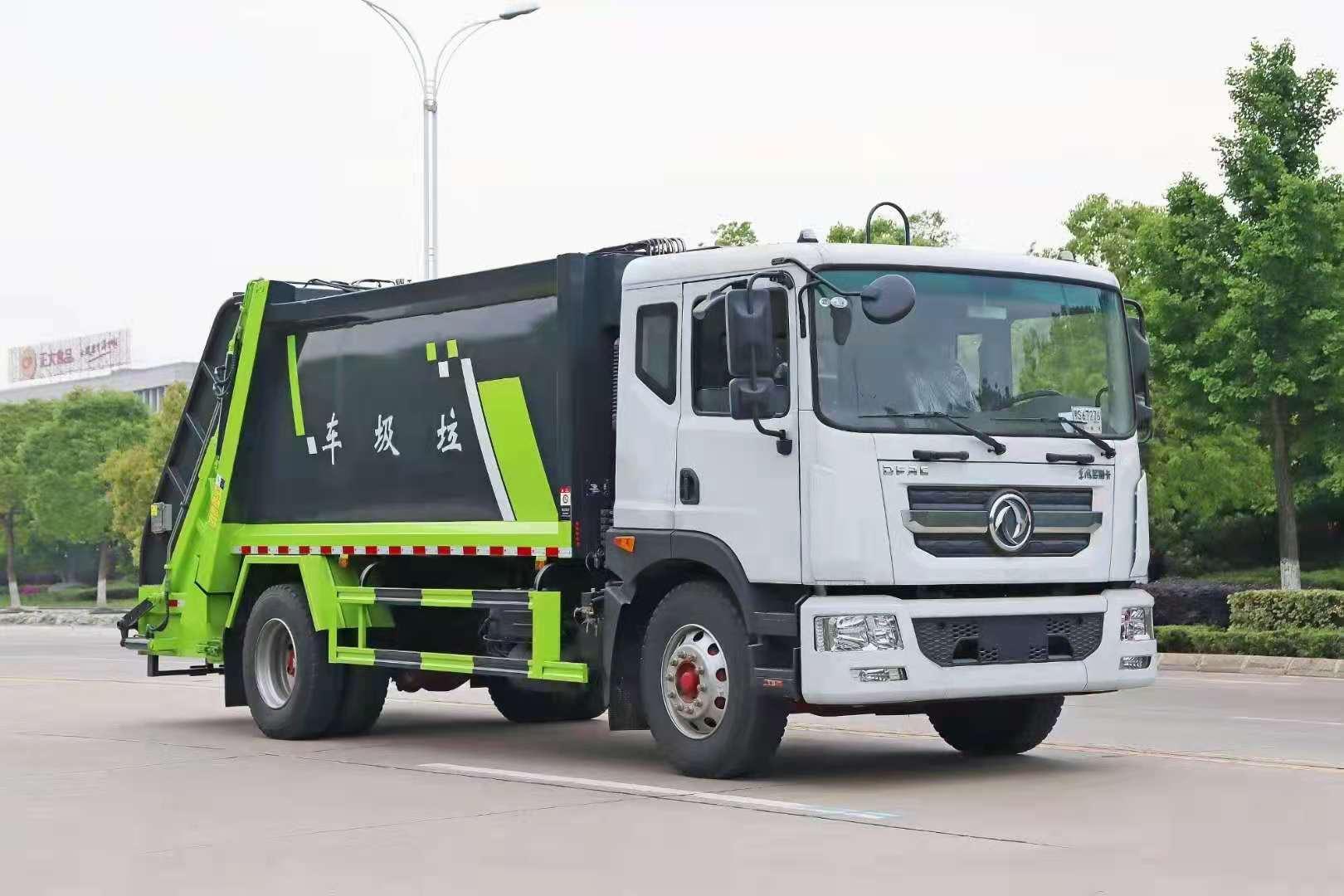 云南大理12方東風大多利卡D9壓縮垃圾車報價_程力環衛壓縮車產品配置