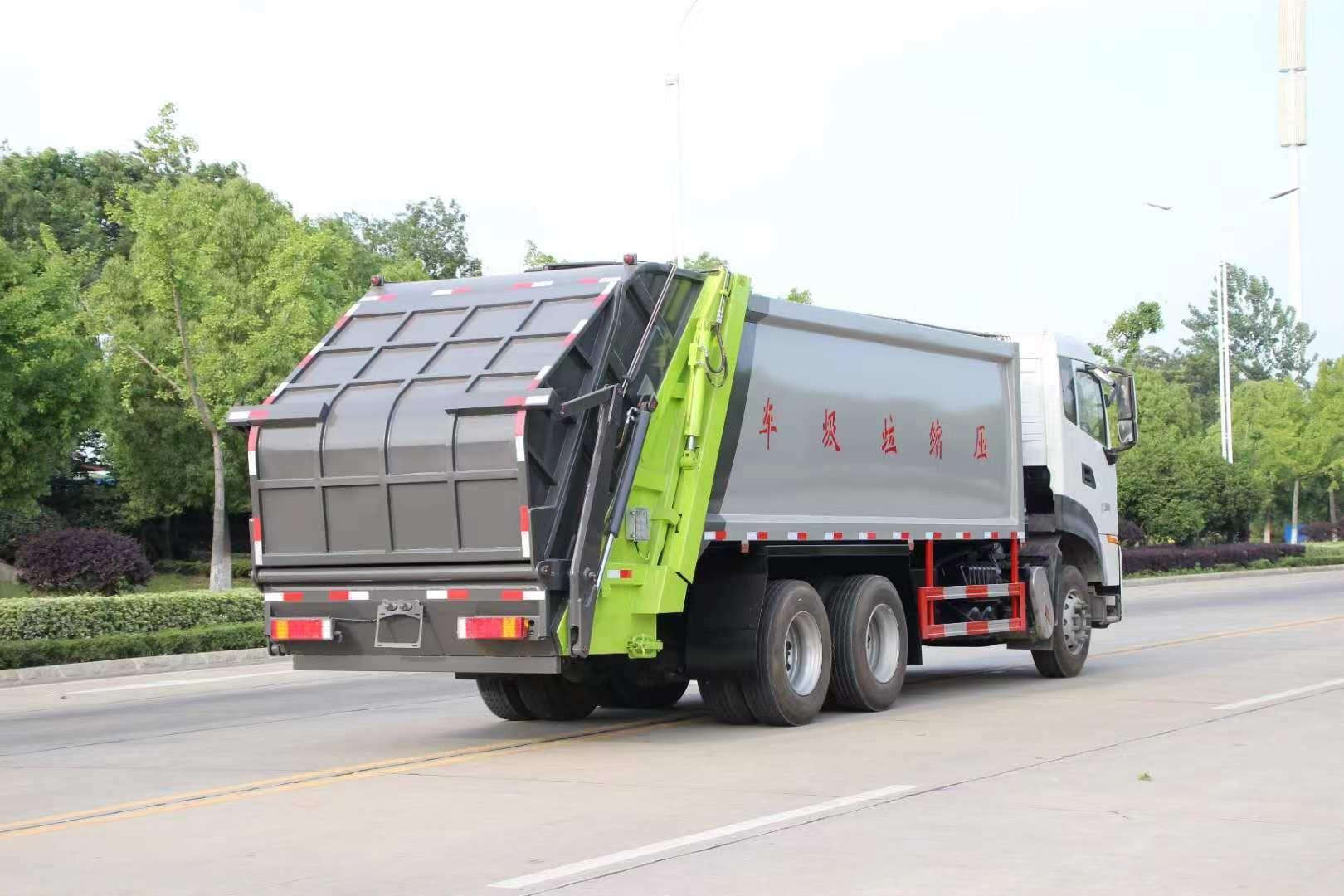 15方东风天龙压缩垃圾车图片