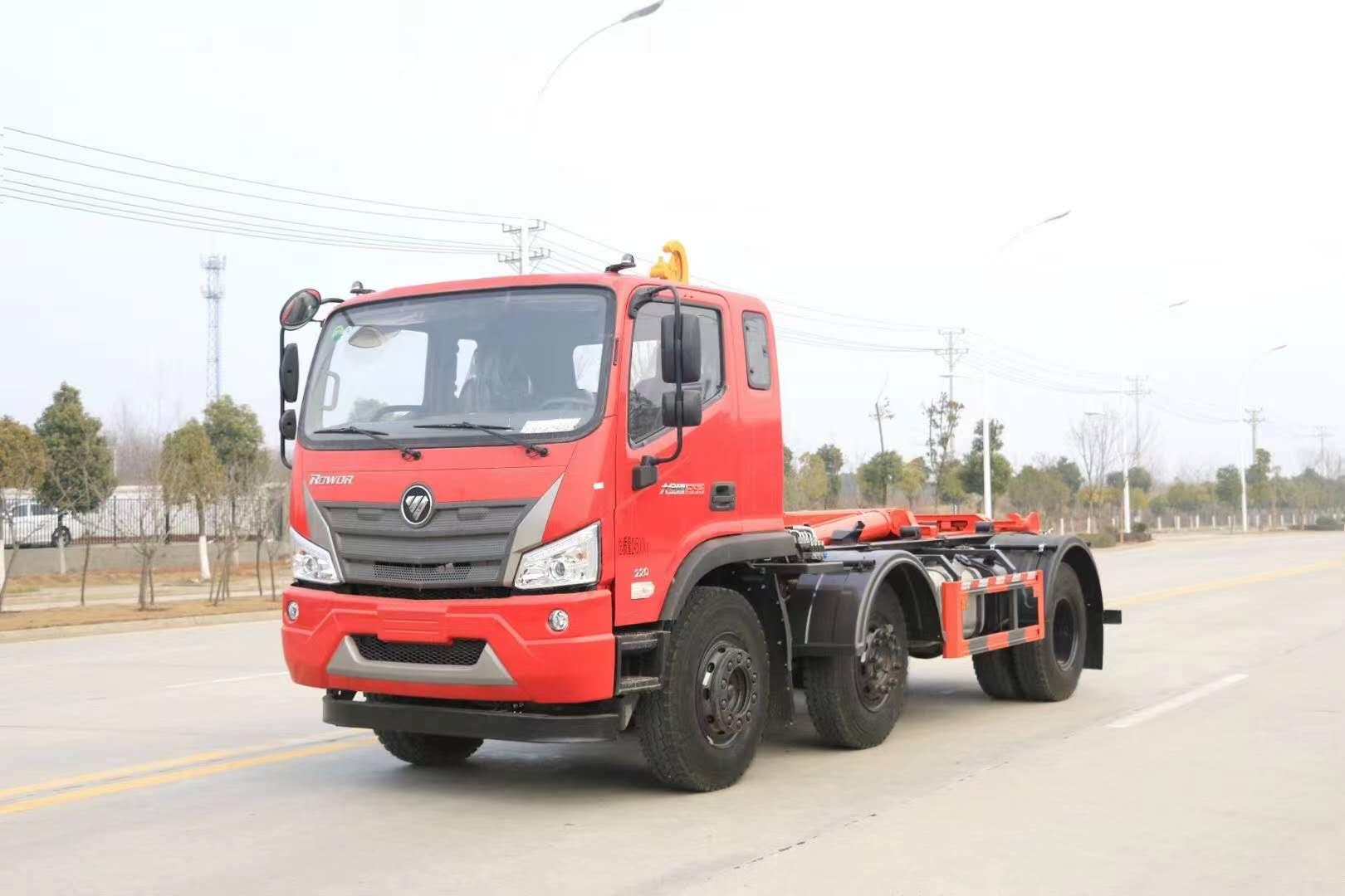 20吨福田瑞沃3轴大钩臂垃圾车价格优惠震撼登场
