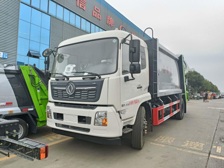 14方东风天锦压缩垃圾运输车厂家价格程力大落地斗转运垃圾车图片