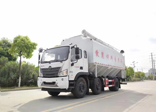 天锦国六小三轴饲料运输车天锦30方散装饲料运输车 猪饲料运输车