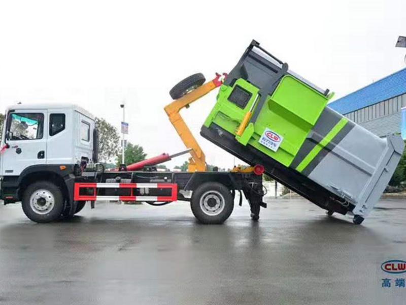 可卸式移动垃圾站 压缩式垃圾车厂家价格