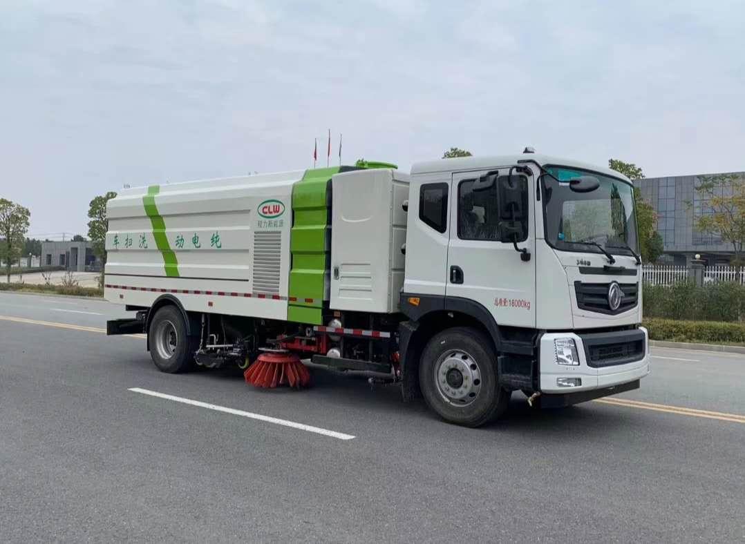 东风新能源清扫车厂家18方纯电动洗扫车扫路车功能图片