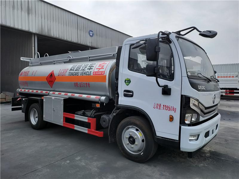 国六流动8吨加油车 东风多利卡8.5立方柴汽油双介质加油车视频
