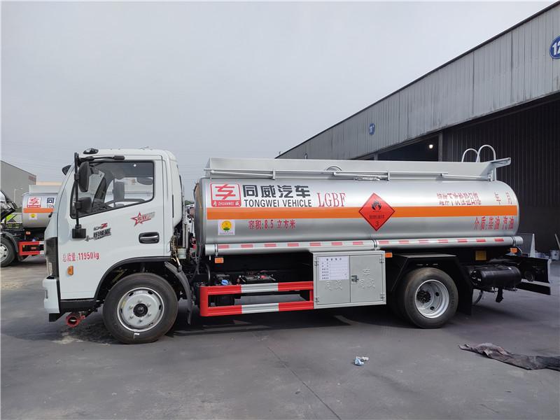 国六8吨加油车 东风多利卡8.5立方玉柴165马力加油车报价视频