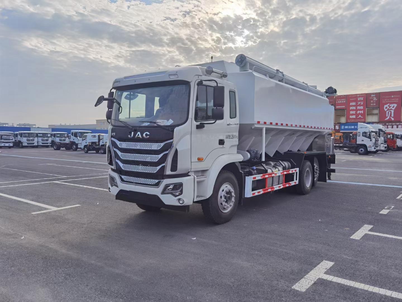 國六江淮6X2散裝伺料車標載15噸不超重廠家銷售圖片
