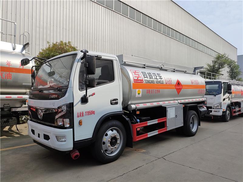 国六东风福瑞卡F7危险品8吨加油车大轮胎 云内170马力
