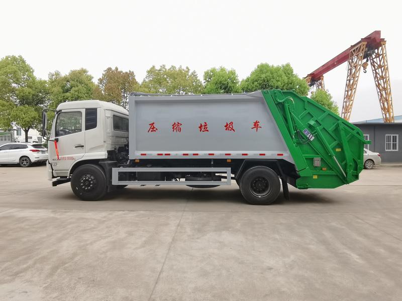 东风天锦14方垃圾压缩车-装载量大的压缩垃圾车-性价比高的压缩垃圾车图片